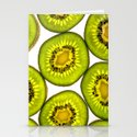 KiwiFruit slices Stationery Cards