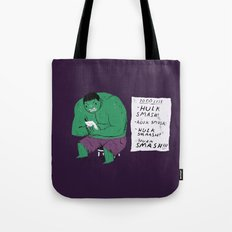 Hulk To Do List. Tote Bag