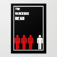 The Walking Dead Minimalist Canvas Print