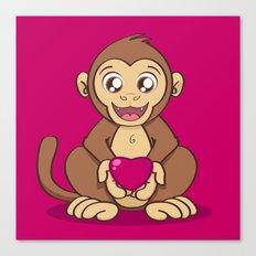 Monkey Love Canvas Print