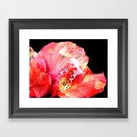 Double Exposed Flowers. Framed Art Print