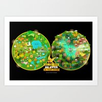 Hunger Games Arenas Art Print