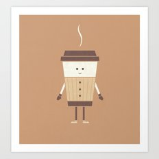 Cold Weather Coffee Art Print