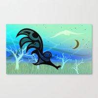 Dusk: Raven Owl Haida St… Canvas Print