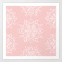Winter Spirit - Blush  Art Print