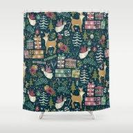 Christmas Joy Shower Curtain