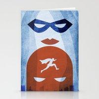 Nightly patrol Superheroes SF Stationery Cards