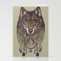 Wind Catcher Wolf Stationery Cards