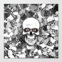 Skulls With Eyes Canvas Print