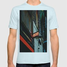 Back Alley Whiskey Mens Fitted Tee Light Blue SMALL
