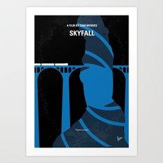 No277-007-2 My Skyfall minimal movie poster Art Print