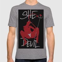 She Devil Mens Fitted Tee Athletic Grey SMALL