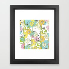Hanging Out In The Garden With My Friends Framed Art Print