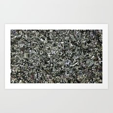 Explosions To Static Art Print