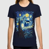Soaring Tardis Doctor Wh… Womens Fitted Tee Navy SMALL