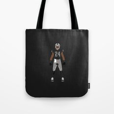 Silver and Black - Charles Woodson Tote Bag