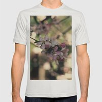 blossum Mens Fitted Tee Silver SMALL