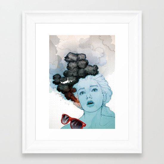 Volcan-oh-no! Framed Art Print