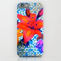 old flowers iPhone 6 Slim Case