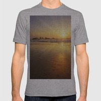 Sunset Over The Pacific  Mens Fitted Tee Athletic Grey SMALL