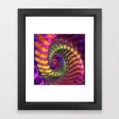 Coloured Spiral wheel Framed Art Print