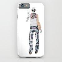 Peace Sign Skeleton iPhone 6 Slim Case