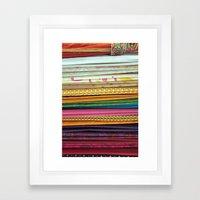 indian sarees Framed Art Print