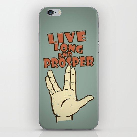 LIVE LONG AND PROSPER! - Star Trek iPhone & iPod Skin