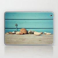 Beach Hut Stones Laptop & iPad Skin