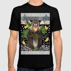 MANDRIL SMALL Black Mens Fitted Tee