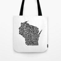 Typographic Wisconsin Tote Bag