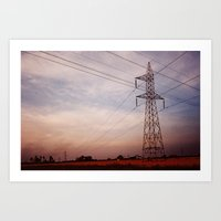 High Tension Poles  Art Print