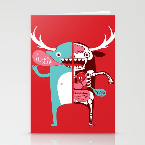 All monsters are the same! Stationery Card
