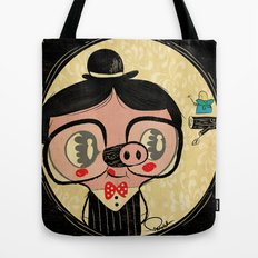 PIGnocchio and the blue fairy / pinocchio pig Tote Bag