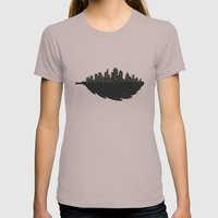 Leaf City Womens Fitted Tee Cinder SMALL