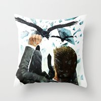 Falling To The Crows Throw Pillow