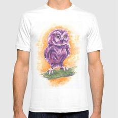 Cute Lil' Ol' Owl Mens Fitted Tee White SMALL