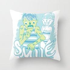 Smile It's contagious :D Throw Pillow