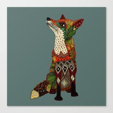 fox love juniper Canvas Print
