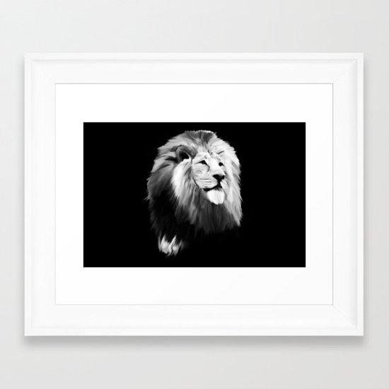 Leo king Framed Art Print