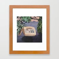 Late Nite Phone Talks Framed Art Print