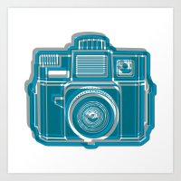 I Still Shoot Film Camera Logo Art Print