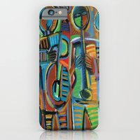 iPhone Cases featuring Jazzmen 2 by Gerry High