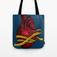 Heart of a Crime Scene Tote Bag