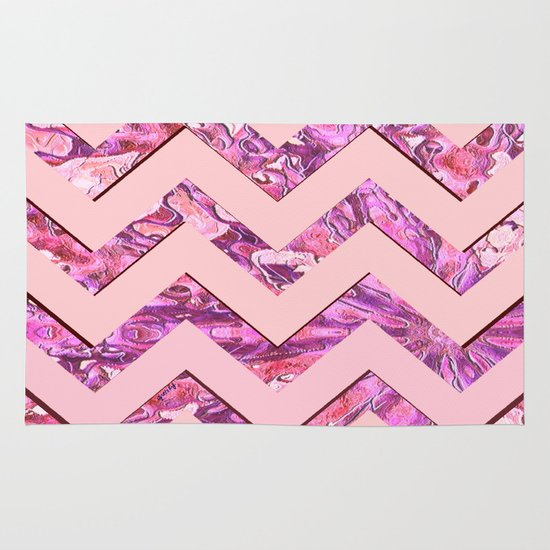 Girly Pink Area & Throw Rug