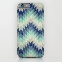 iPhone & iPod Case featuring Chevron pattern_Blue by Gal Ashkenazi