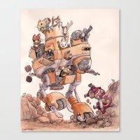 The Big Bad Mega Mech Canvas Print