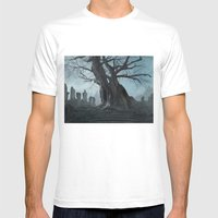 Ancient Tree Mens Fitted Tee White SMALL