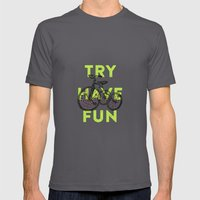 Try have fun Mens Fitted Tee Asphalt SMALL