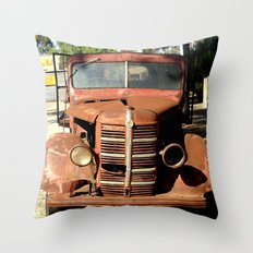 One Eyed Bedford Truck Throw Pillow